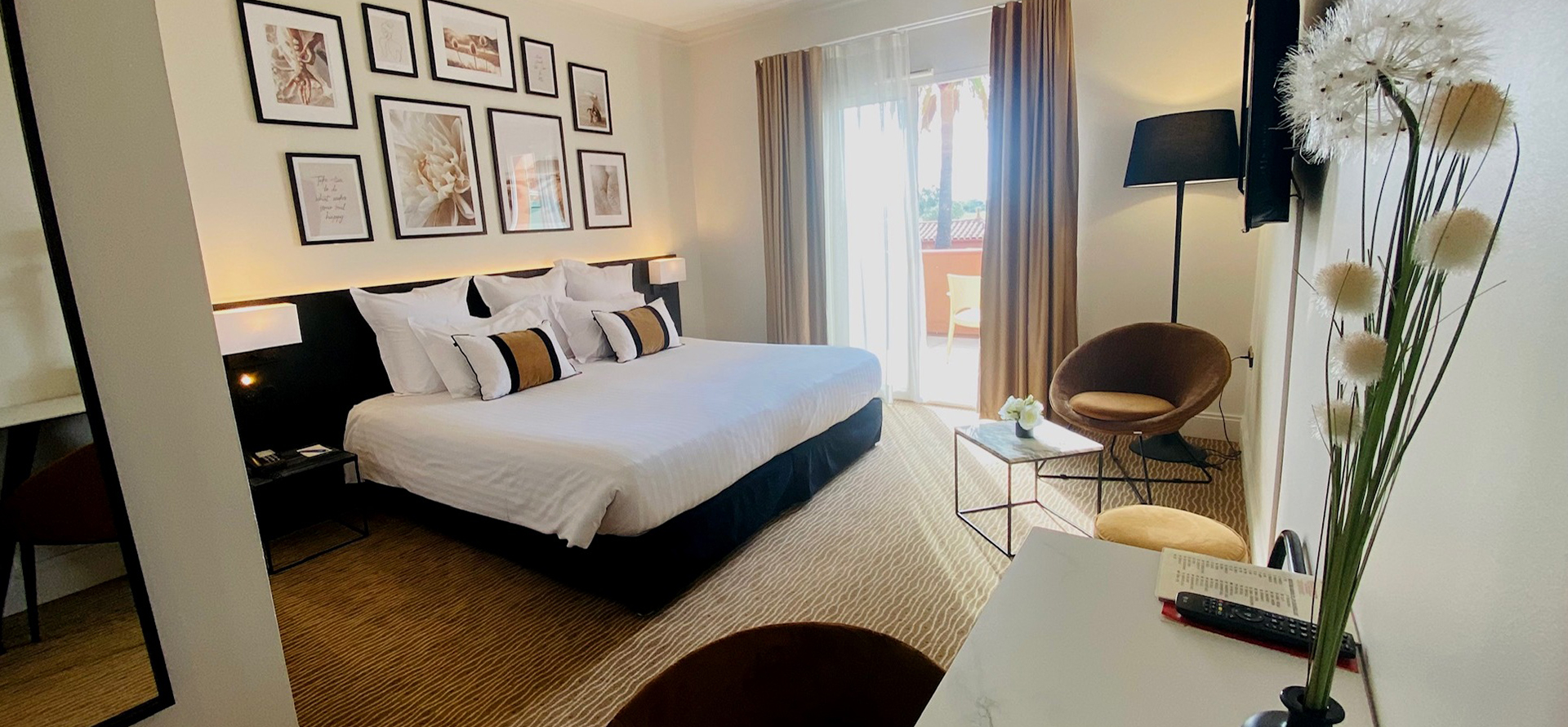 Top-quality room with view over the golf course in the 4-star hotel in Cap d'Agde: the Palmyra Golf