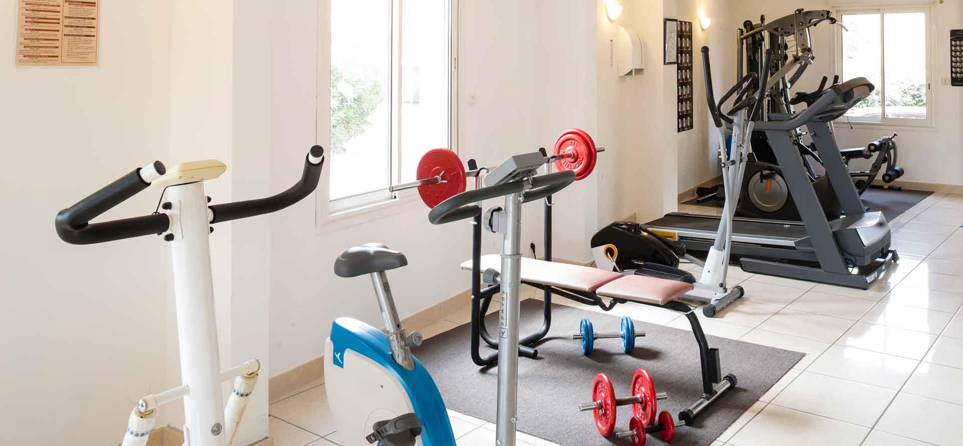 The gym and spa at the Palmyra Golf in Cap d'Agde